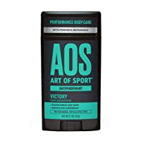 Art of Sport Men's Antiperspirant Deodorant - Victory Scent - Antiperspirant for Men with Natural Botanicals Matcha and Arrowroot - Energizing Citrus Fragrance - Made for Athletes - 2.7oz
