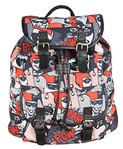 Harley Quinn DC Comics All Over Print Knapsack Backpack Bookbag New - Harley Quinn Batman Arkham Knight Costume