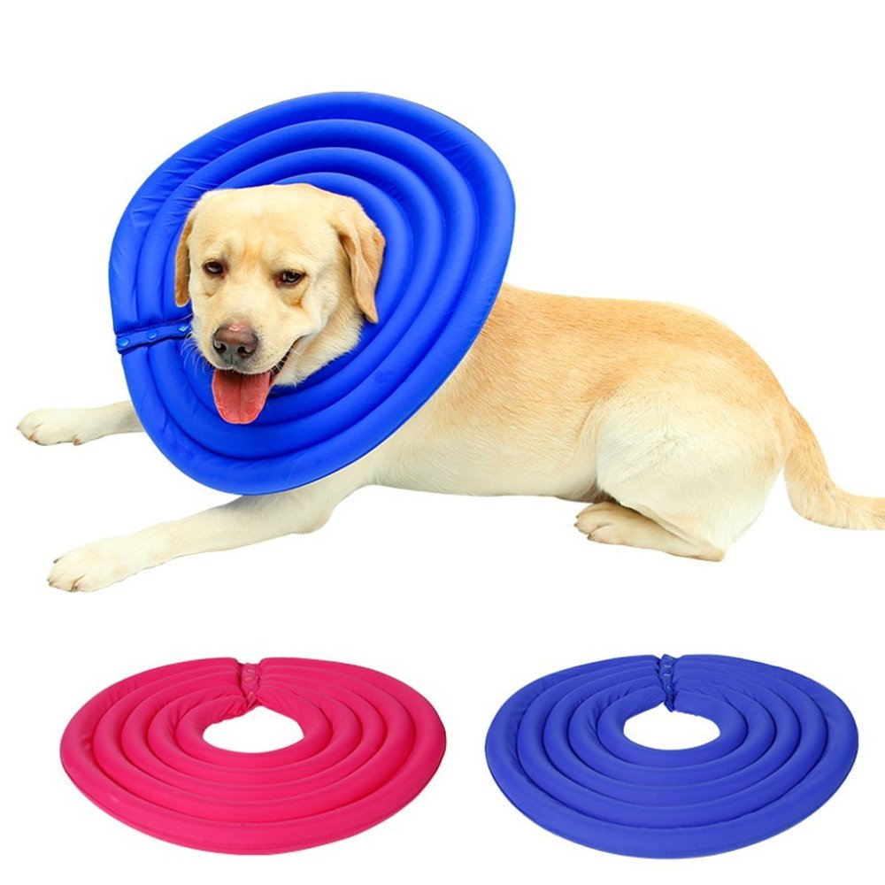 Be Good Recovery Collar Water Resistant Adjustable Pet Collar Ultralight Protective Neck Collar for Dogs and Cats Designed to Prevent Pets Touching Wound Biting Does Not Block Vision L Blue