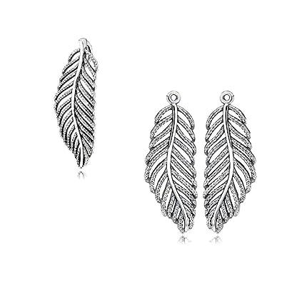 c79243127 promo code original pandora gift set 1 feather earring pendants 290680cz  and 1 feather necklace pendant