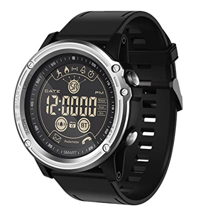 C-Xka Reloj Digital Inteligente Deportivo - Reloj Impermeable Bluetooth Impermeable para Hombres, Smartwatch