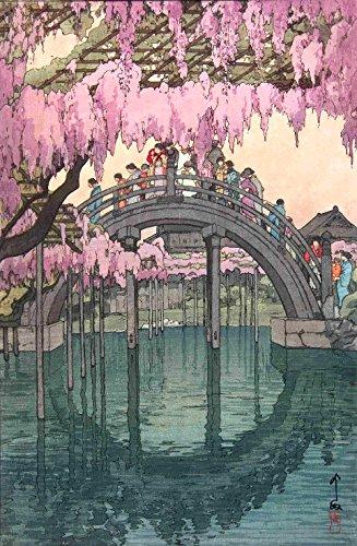 Japanese Art Print Kameido Bridge by Yoshida Hiroshi
