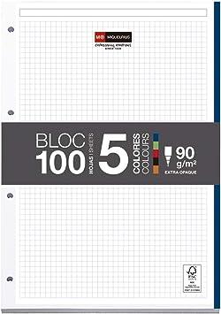 Miquelrius Emotions Bloc Recambio 5 colores Intensos 100 hojas 90 ...