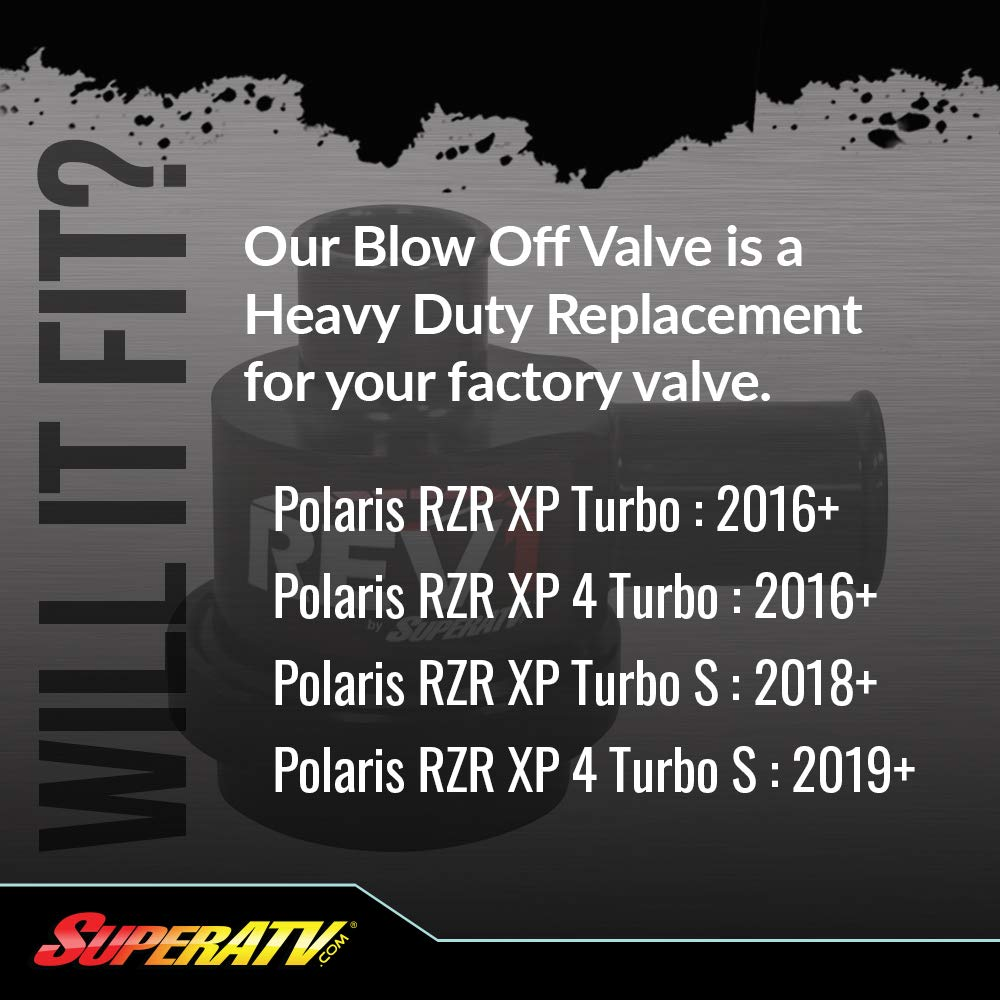 SuperATV Heavy Duty Rev1 Blow Off Valve for Polaris RZR XP Turbo/XP Turbo S  (2016+) - Direct OEM Replacement