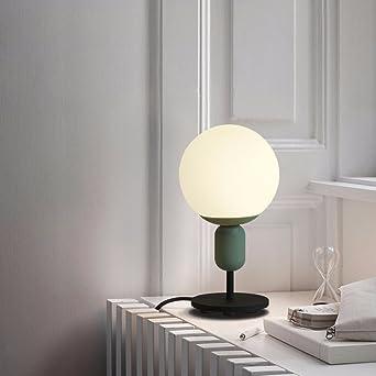 La Chevet Minimaliste Simple Lampe Boule Avec Feu Bureau Table De mywO8nvN0