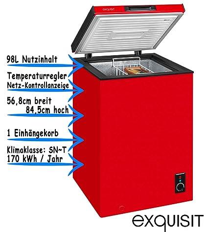 Exquisito congelador rojo de 4 estrellas, capacidad de 98 litros ...