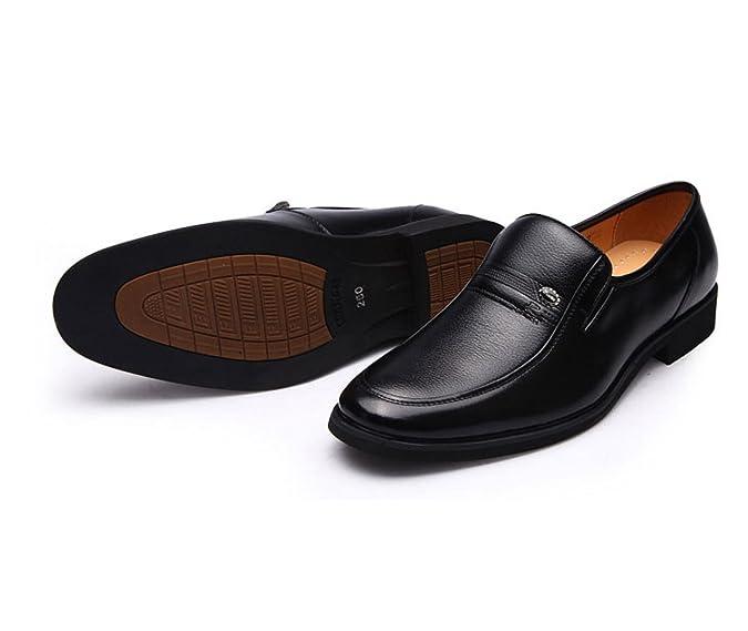 LEDLFIE Hommes Chaussures Crocodile Motif Pointu Dentelle Formalwear Business Men's Shoes Chaussures Simples,Black-38