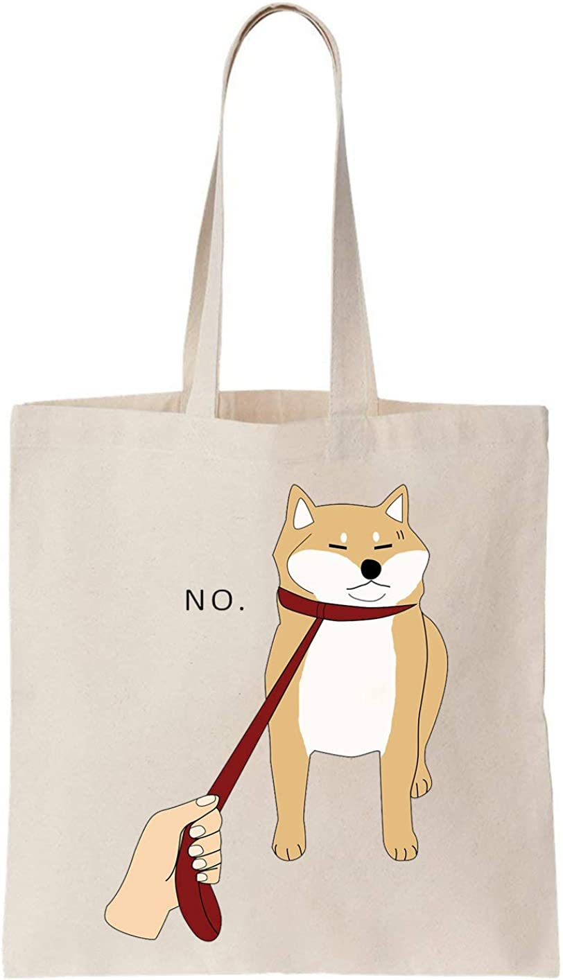 PasTomka Shiba Inu Dog Saying No Sac En Coton ToteBag