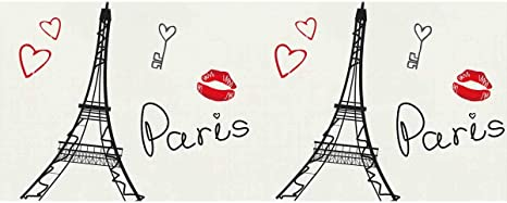 Paris and  Eiffel Tower Gift Wrapping Paper