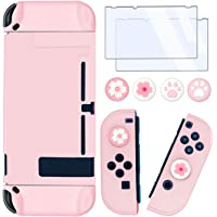 BRHE Dockable Switch Protective Case Cover for Switch with Glass Screen Protector, Anti-Scratch Shock-Absorption Grip…