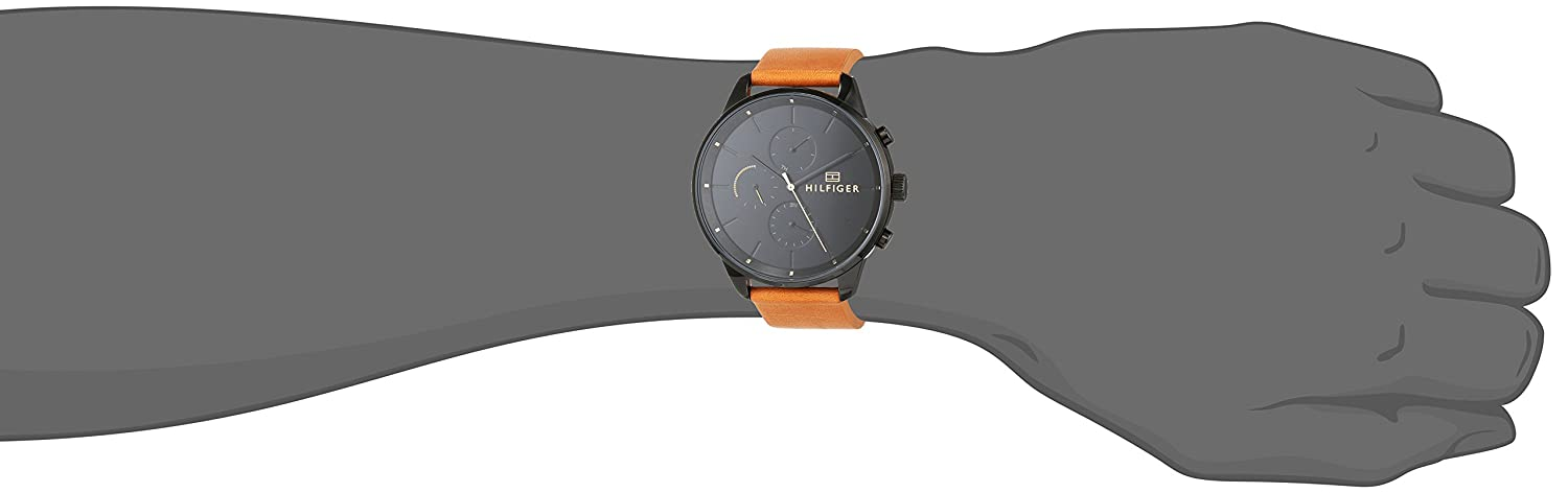 Tommy Hilfiger Unisex-Adult Multi dial Quartz Watch with Leather Strap  1791486  Amazon.co.uk  Watches 28223f0520