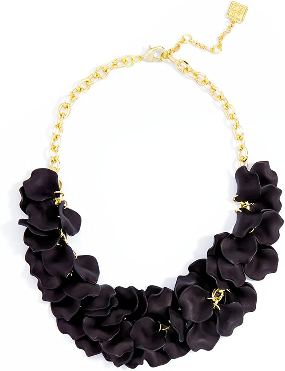Gift for her,Black and gold necklace Total black Gold bib statement elegant new fashion necklace Black Bib Collar Statement short Necklace