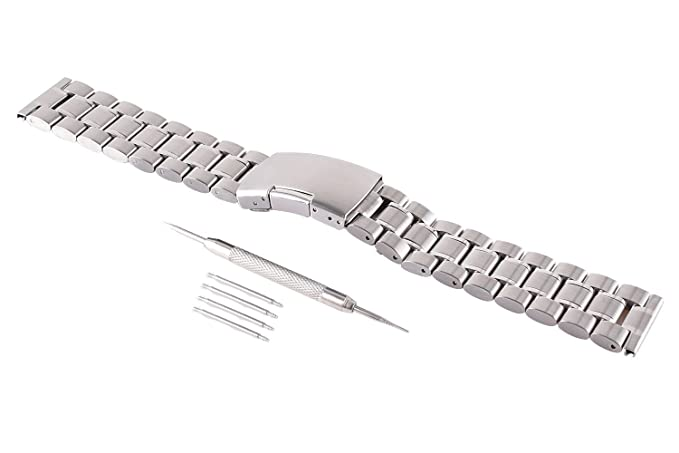 VIMVIP 22 mm acero inoxidable correa de banda de reloj de ...