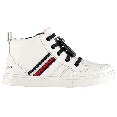 guarda bene le scarpe in vendita prezzo ragionevole grande qualità Tommy Hilfiger Scarpe Sneaker Bambino Bianco Stringata, in Pelle ...