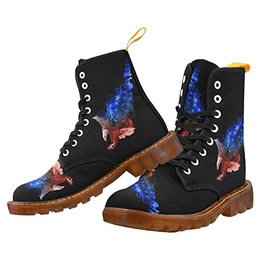 Shoes Eagle Lace Up Martin Boots For Women