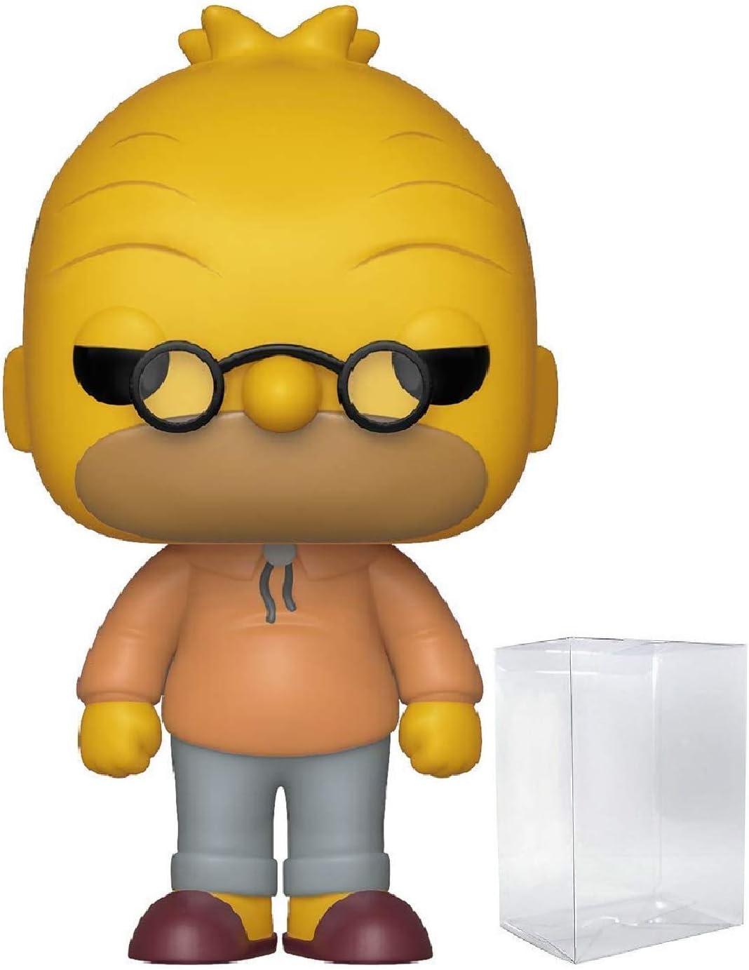 Amazon Com Funko The Simpsons Grandpa Simpson Abe Simpson Funko Pop Vinyl Figure Includes Compatible Pop Box Protector Case Toys Games