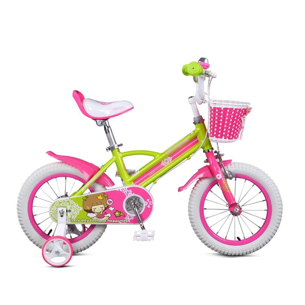 3-6歳ピンクガールベビーベビーカー子供用自転車14インチ子供用自転車サイクリング B07DWM676K 14 inch