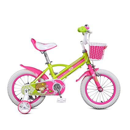 2cbaee5a588572 Amazon.com : 3-6 Years Old Pink Girl Baby Stroller Kids' Bikes 14 16 ...