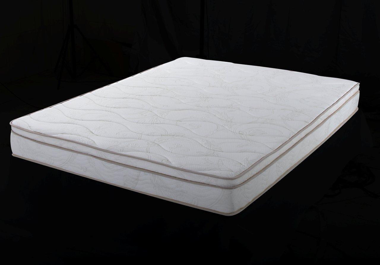 Home Life Euro Top Harmony Sleep 8-Inch Pocket Spring Luxury Mattress Green Foam Certified, Queen