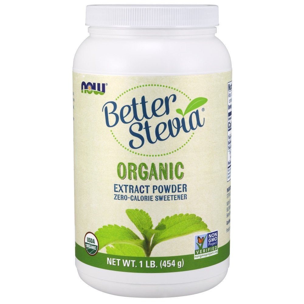 NOW Foods Organic Better Stevia Extract Powder, 16-Ounce