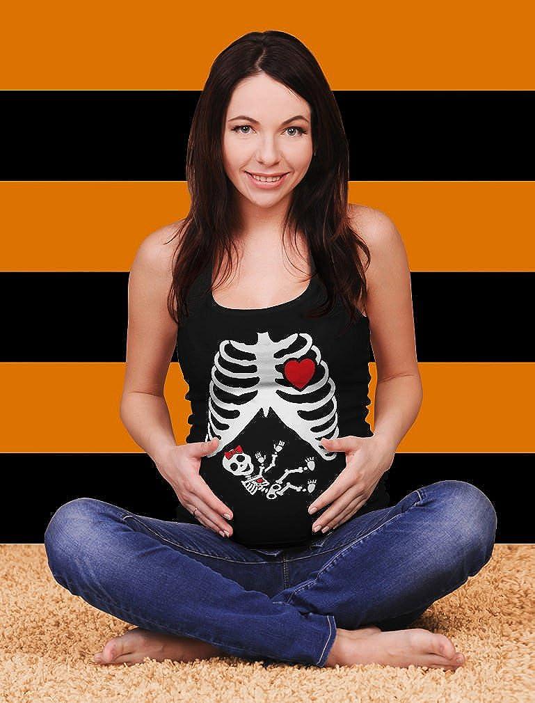 5c8c25f10c3c3 Funny Pregnant Xray Skeleton Baby Girl Pregnancy Maternity Tank Top  Gl303gW5 larger image