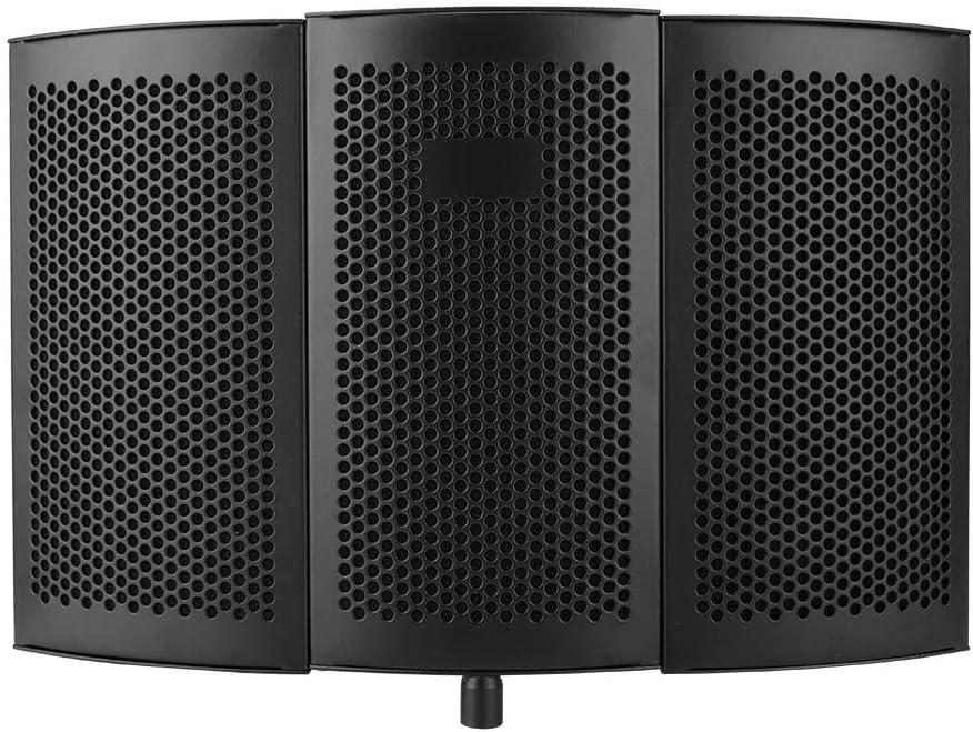 Tosuny Panel Acústico, Office Studio EVA Esponja de Espuma Absorción de Sonido Tratamiento de Protección de Micrófono, Plegable A Prueba de Viento Grabación Studio Blimp para Optimizar el Entorno