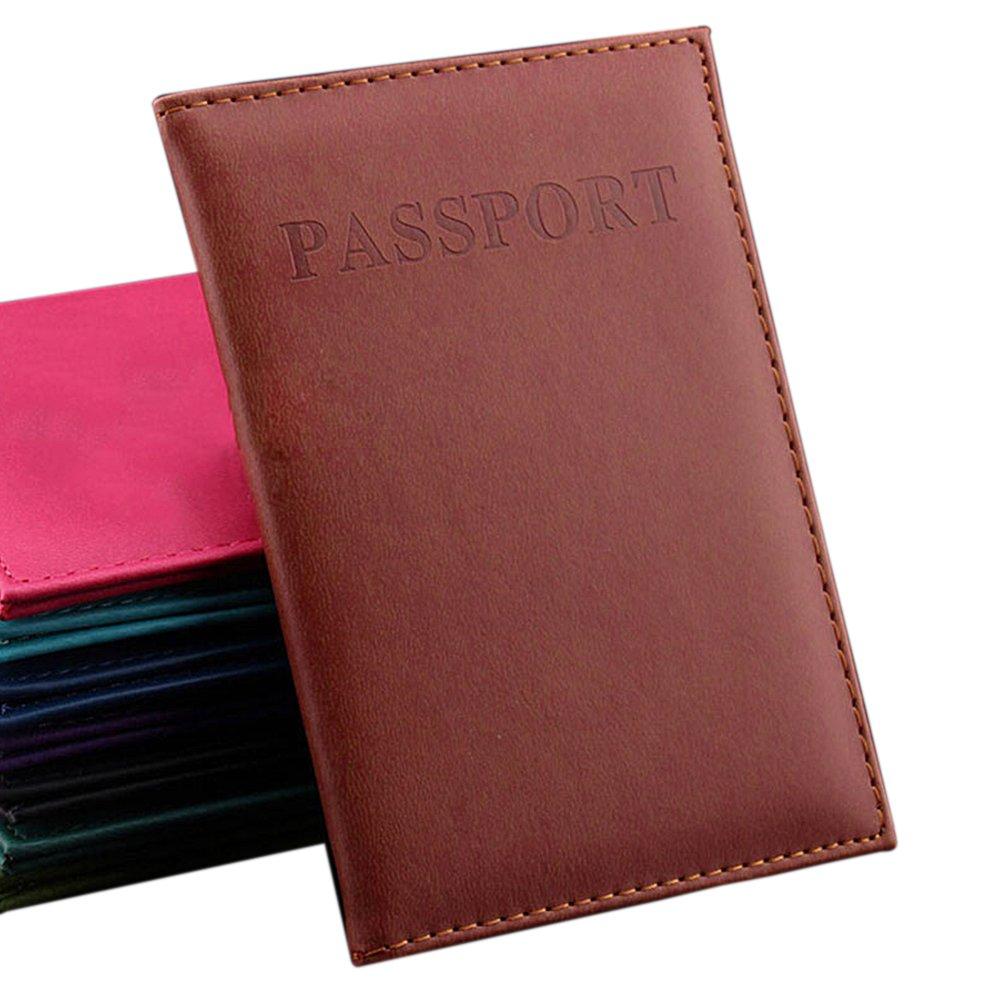 EMVANV 14.2* 9.8cm/5.593.86-Zoll-Pass-Halter PU-Leder-Geldbörse mit Kartenhalter, dunkelblau, Free Size