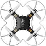 FQ FQ777-124 Pocket Drone 4CH 6Axis Gyro Quadcopter with Switchable Controller RTF, Black