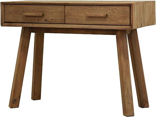 Mesa Consola de 2 cajones de Pino Reciclado, Mueble Decorativo de ...