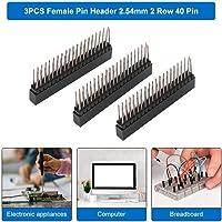 40 Pin Headers Doble Fila,3 Piezas 2.54mm Conector