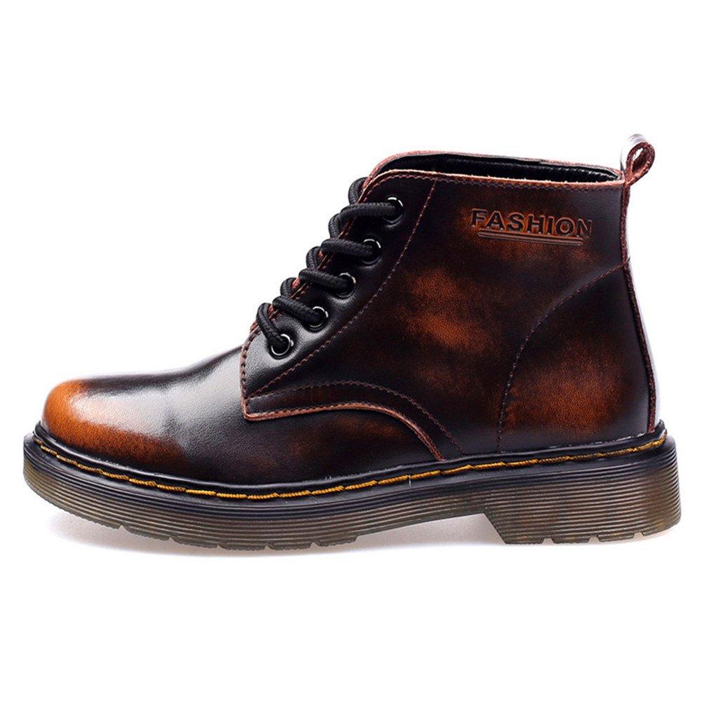 93750cf6869df2 SITAILE Damen Herren Stiefeletten Leder Boots Kurzschaft Winterstiefel  Winter Schuh Warme Gefütterte Outdoor Knöchel Stiefel  Amazon.de  Schuhe    ...