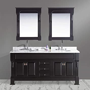 Design Element Marcos Double Sink Vanity Set With Carrara White