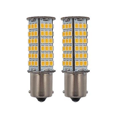 GRV BA15S LED Light Bulb 1156 1141 High Bright Car Bulbs 102-2835 SMD 3W DC12V Warm White Pack of 2: Automotive
