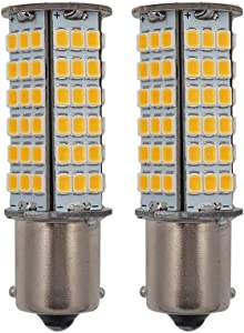 GRV BA15S LED Light Bulb 1156 1141 High Bright Car Bulbs 102-2835 SMD 3W DC12V Warm White Pack of 2