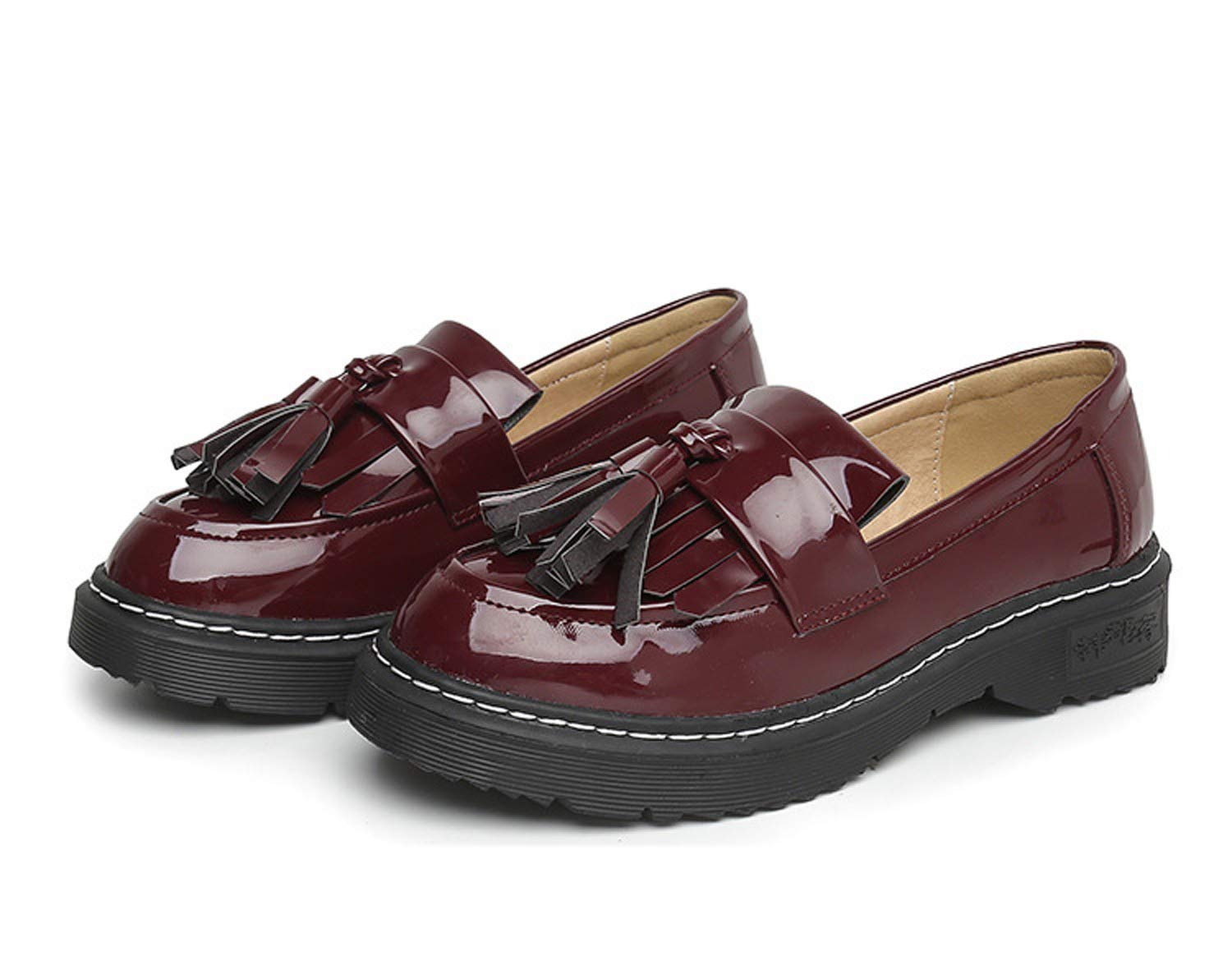 Amazon.com: DANDANJIE Womens Loafers England College Style Shoes ...