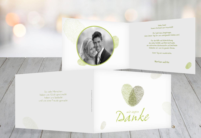 Kartenparadies Danksagung für Hochzeitsgeschenke Hochzeit Dankeskarte fingerprint, hochwertige Danksagungskarte Hochzeitsglückwünsche inklusive Umschläge   20 Karten - (Format  148x105 mm) Farbe  Grau B01NBWNIID | Louis, ausführlich