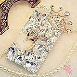 iPhone XR Bling Diamond Rhinestone Case,iPhone XR Fox Crown Diamond Case,3D Women Girl Handmade Crystal Bling Diamonds…