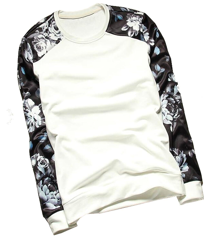 Generic Men's Crewneck Athletic Casual Long Sleeve Shirts