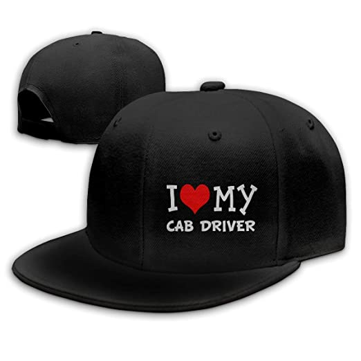 4f28afe0fd3 I Love My Cab Driver Baseball Cap Classic Adjustable Plain Hat for Men and  Women at Amazon Men s Clothing store