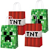16 PCS Party Favor Bags for Pixels Miner Birthday Party Supplies, Party Gift Goody Treat Candy Bags for Pixels Miner Party Fa