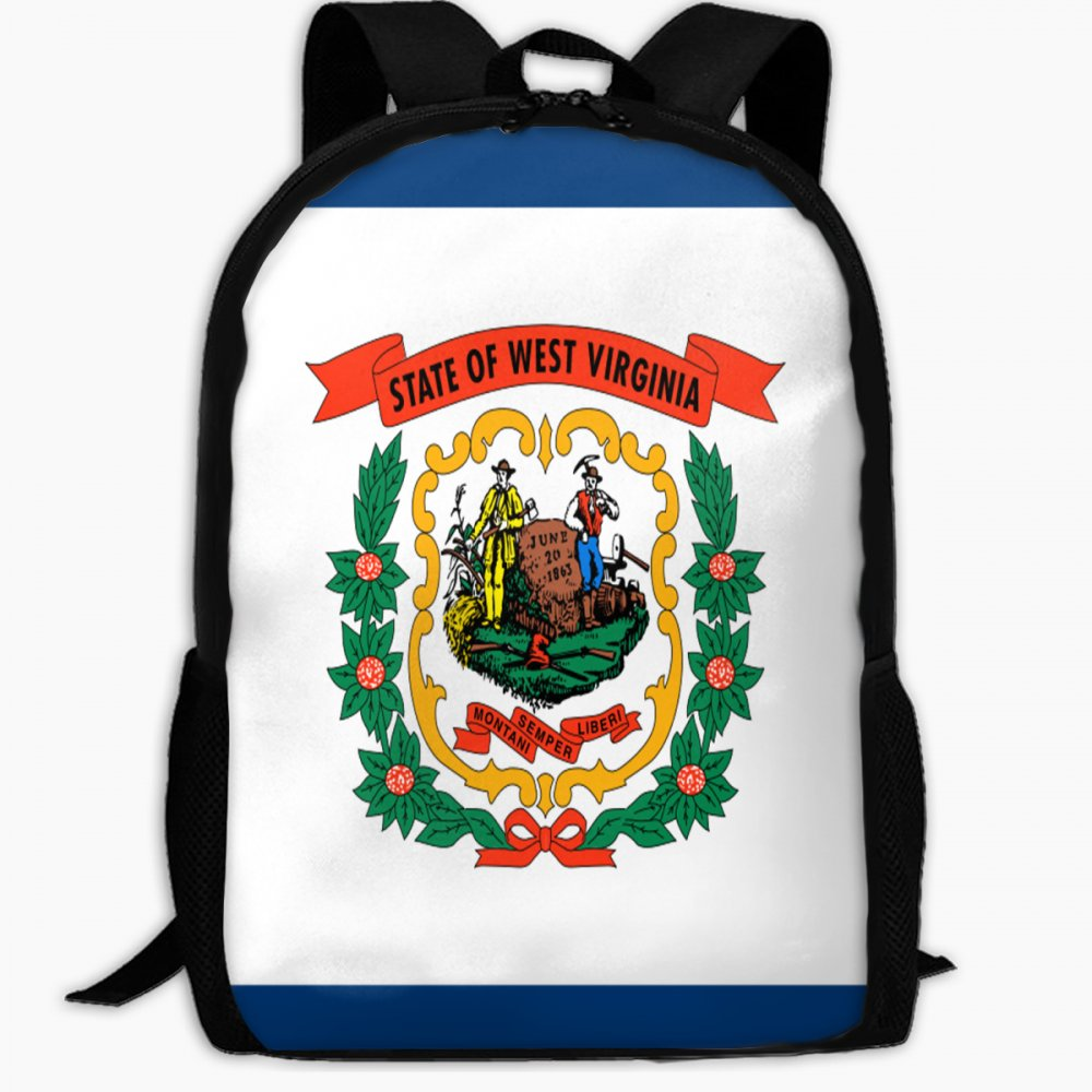 子供の学校バックパックの国旗West Virginiaアウトドア旅行バックパック学生バックパックキッズブックバッグユニセックスショルダーDaypack   B07FVSCX4K