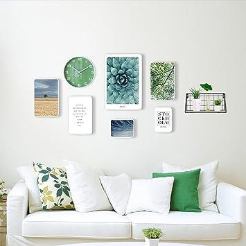 Amazoncom Si Yu Dww Photo Frame Collage Photo Wall Clocks Living