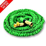 NEW MODEL OF WORLD'S STRONGEST Expandable Garden Hose with MADE IN USA inner tube material, Garden Hose Expanding Hose Flexible Hose Water Hose Expandable Hose (Green, 50 ft)
