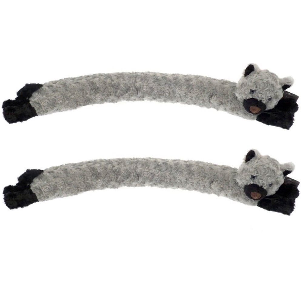 2 x Luxury Cat Draught Excluder Door Window Cushion Draught Cool Air Stopper Grey Wilsons Direct