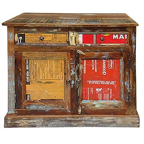 Credenza etnica vintage. Credenza realizzata in legno massello ...