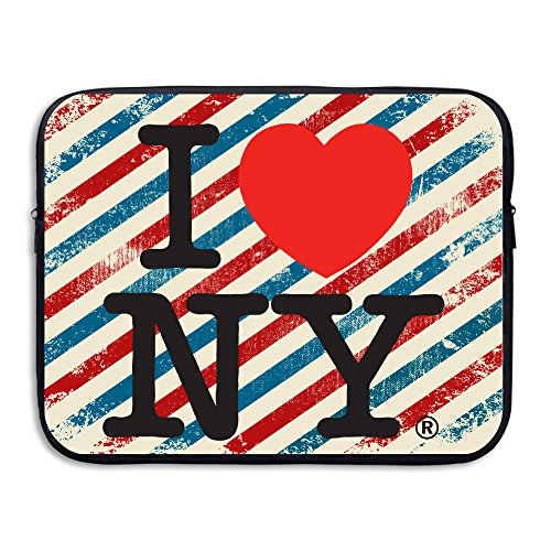 QOQOI I Love New York Travel Portable Carry On Laptop Messenger Bag Case Shock Absorbent Size 15 Inch Double Print For 13-Inch Or 15-Inch