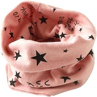 Tongshi Otoño Invierno Niños Niñas collar bebé de la bufanda del algodón O Ring Pañuelos(Rosa)