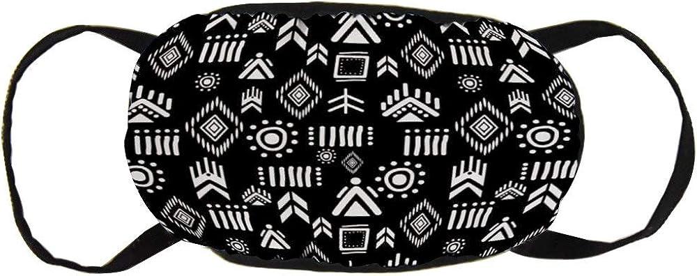 Promini Respiradores de algodón personalizados Máscara bucal de moda Unisex Contaminación antipolvo Ciclismo Media cara Earloop Maya Dibujo bohemio antiguo Cultura navajo Hipster Moda