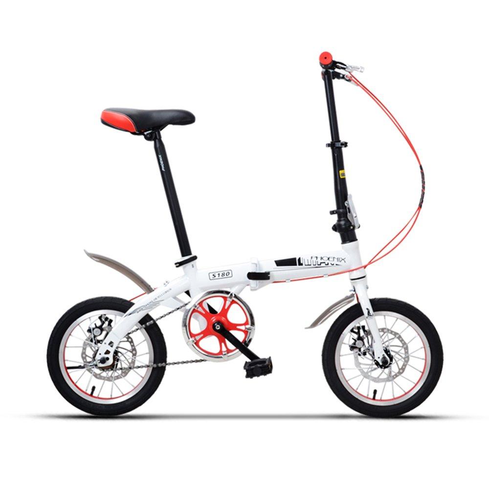 YANFEI 子ども用自転車 折りたたみ自転車サドル635ミリメートル14インチ6歳の少女少年学生 子供用ギフト B07DZGP8YNRed -14 inch