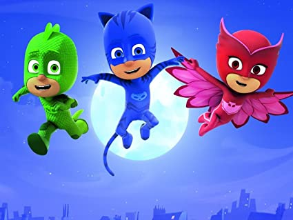 CAKEUSA PJ MASKS Party Birthday Cake Topper Edible Image 1/4 Sheet Frosting